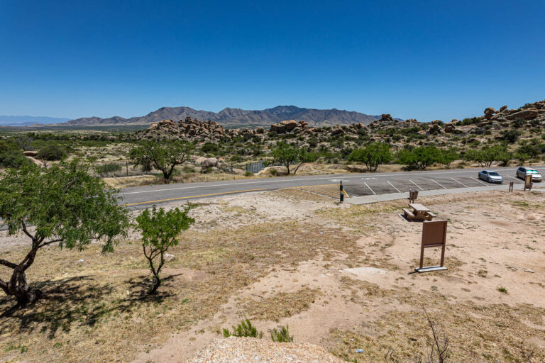 View of Mount Glenn from the Texas Canyon rest area in Arizona along I10.