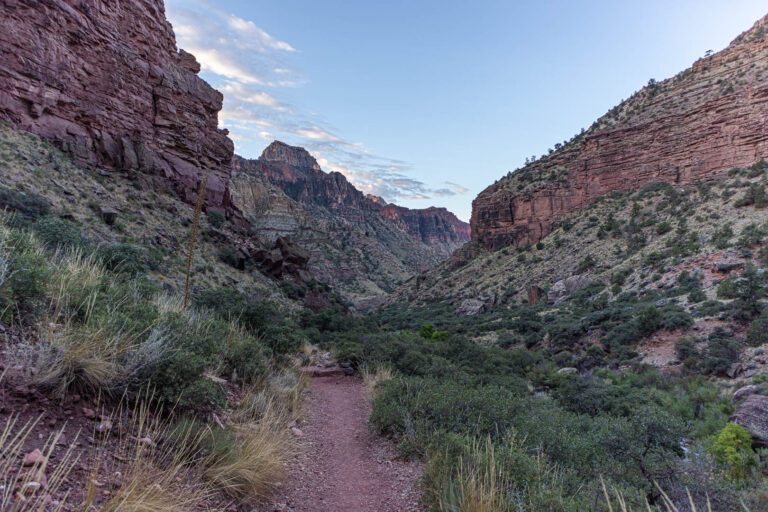 Grand Canyon - Sunrise on the North Kaibab trail during our rim 2 rim hike.