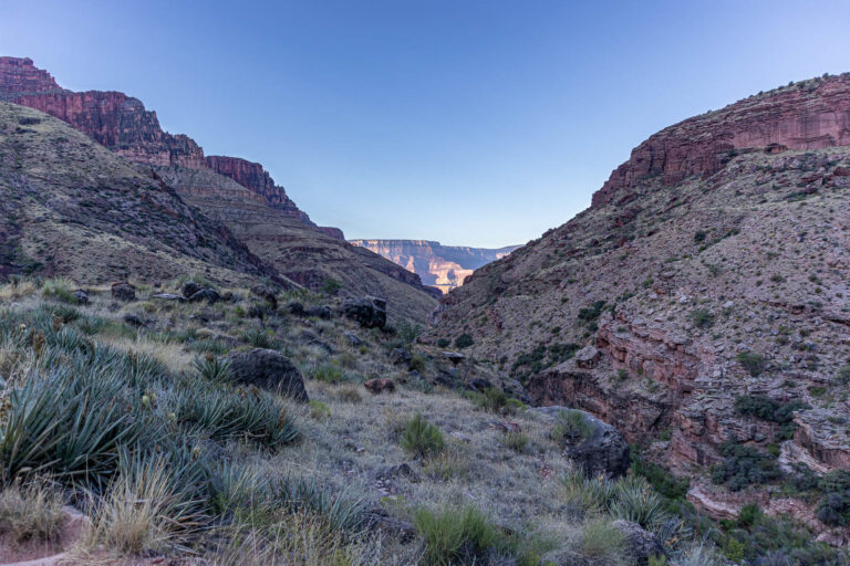 Grand Canyon - our first view of the South Rim from the North Kaibab trail.