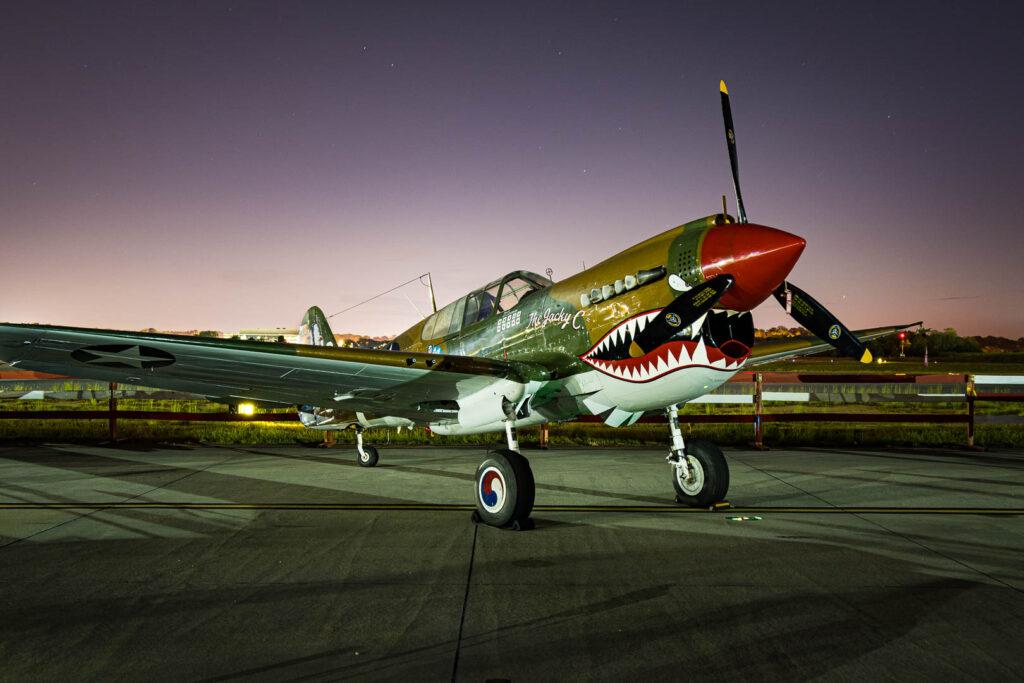 P-40 Warhawk at sunrise