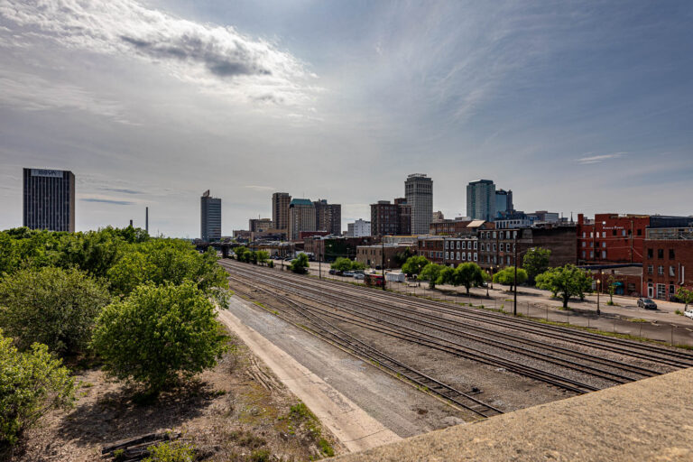 Downtown Birmingham Alabama skyline from 24th Street overpass