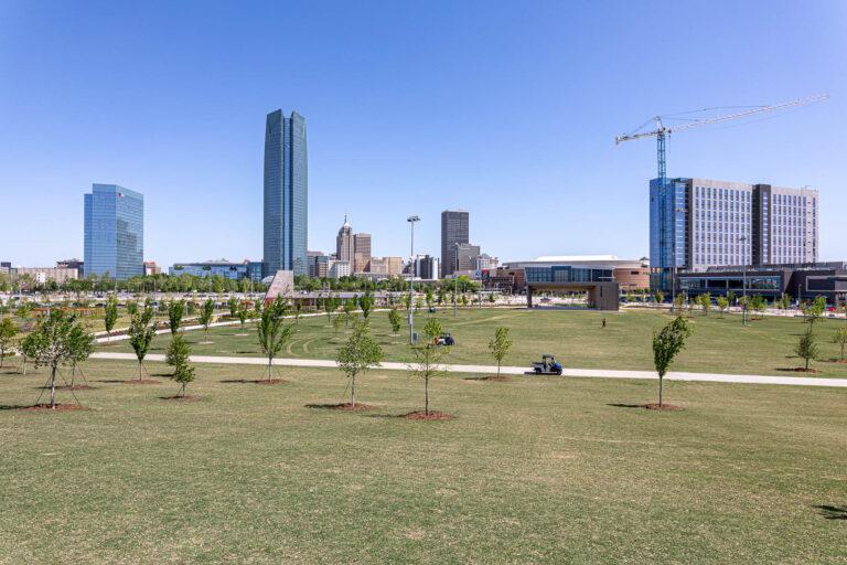 Oklahoma City - downtown skyline from Scissortail Park