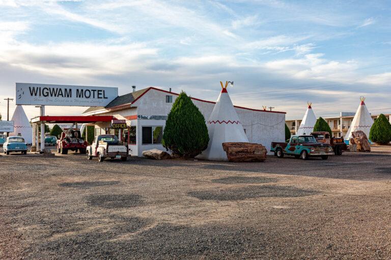 Holbrook, Arizona - the famous Wigwam Motel along the old Route 66
