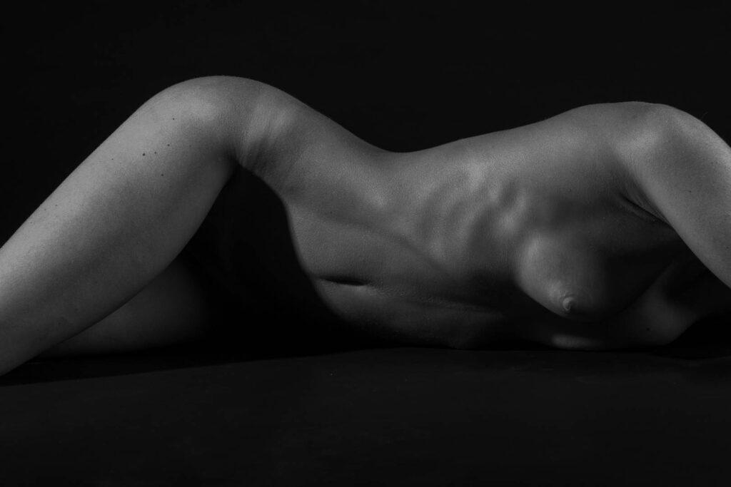 Artistic nude bodyscape upper body